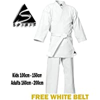 Karate 9oz 100% cotón Uniforme de Karate blanco (2/150cm)