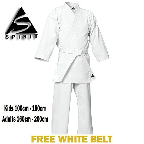 KARATE 9 Onzas polly-cotton Blanco Karate Uniforme