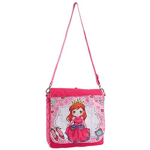 Digital grafica stampata bambini Bauletto rosa - impermeabile Dupion seta del sacchetto di libro per bambini con cerniera di chiusura