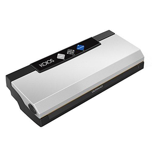 Vakuumiergerät, Koios 4-in-1 Versiegelungssystem mit Cutter, 10 Versiegelungsbeutel (LFGB-zugelassen), mehrfach nutzbare Vakuumiermaschine und Pumpschlauch, für trockene und feuchte Lebensmittel