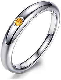 LP 1 Damen Fingerring Edelstahlring Strass Verlobungsring Partnerring 18.1mm