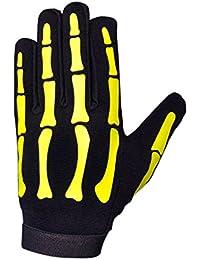 HiVis High Visibility Halloween Yellow Skeleton Mechanics Gloves