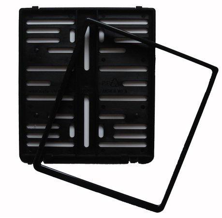 Kennzeichenhalter - Kennzeichenverstärker - Kennzeichenbefestigung aus Kunststoff für Motorrad, 180 x 200 mm, schwarz