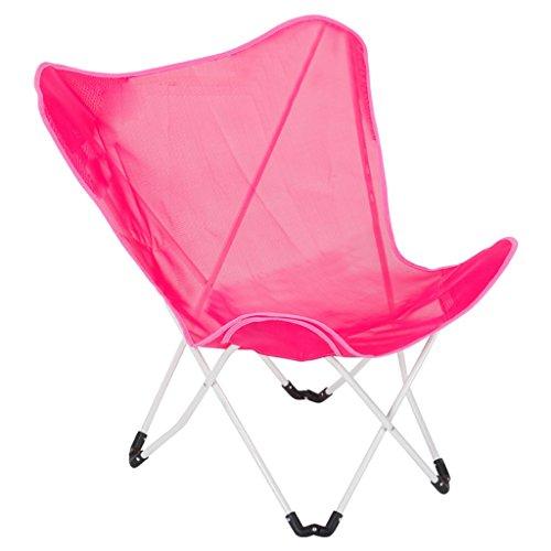 Chaise de papillon, chaise pliante de balcon, divan paresseux, chaise de soleil de loisirs, (Couleur : Pink)