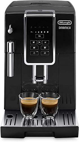 De'Longhi Dinamica ECAM 350.15.B Kaffeevollautomat (1450 Watt, Digitaldisplay, Milchaufschäumdüse, Lieblingsgetränke auf Knopfdruck, Herausnehmbare Brühgruppe, 2-Tassen-Funktion) schwarz