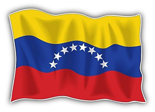 Bandiera Venezuela Waving World Art Decor adesivo paraurti 12x 8cm
