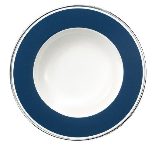 24cm Suppenteller 'Anmut My Colour' aus Premium Bone Porzellan Farbe: Ocean Blue