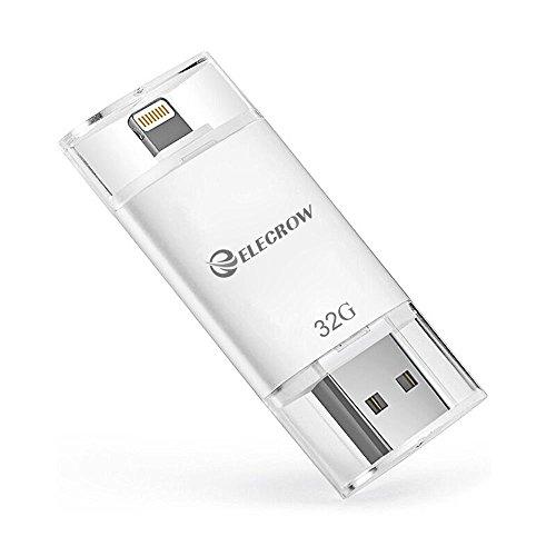 Preisvergleich Produktbild 32GB iPhone Flash Drive Externe Speicher Speicher Erweiterung für Apple iPhone iPod iPad Computer Mac Laptop PC von Elecrow