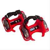 yaya Red Scooter Sports Wheel Size, 70 Mm Outdoor Roller Ajustable Outdoor Shoe Roller en Flash
