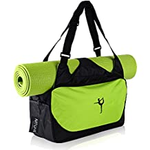 Artone Water Resistant Oxford Sports Workout Yoga Mat Gym Bag Tote Carryall Duffle Bags