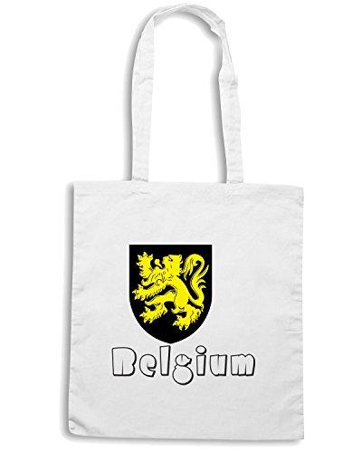 T-Shirtshock - Borsa Shopping WC0036 BELGIUM BELGIO Bianco