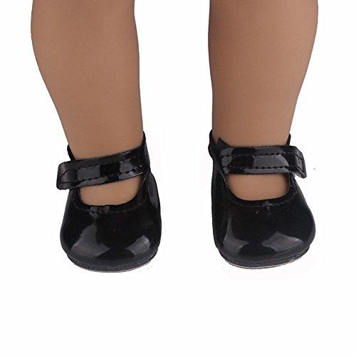 Funkeln-partei-kleid (45,7cm Puppe Schuhe für unsere Generation American Girl Puppe mingfa Perlenquasten Sandalen Schleife Kleid Schuh Puppe Zubehör)