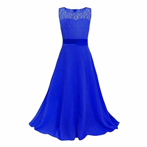 Prinzessin Kleid, Kobay Kinder Mädchen Kleider Spitze Hochzeit Brautjungfer Festzug Kleid