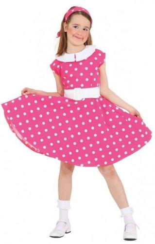Rock N Roll Kostüm Kinder - Kinder Rock´n Roll Kleid Gr. 140