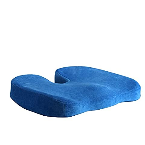 Support Cushion Memory Foam Chair Cushion Wave Shape Pad Design - Reduces Coccyx, Sciatic Nerve and Coccyx Pain and Improves Posture, Soft Bottom and Comfortable Non-Slip Bottom, Suitable For Lumbar & Hip Cushioning
