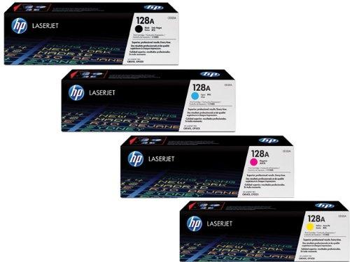 Toner-Set HP CE320A321A322A323A, 128A, bk 2.000 Seiten, cym je 1.300 Seiten
