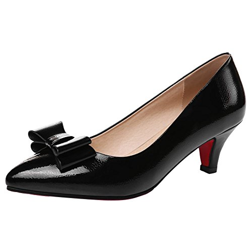 Mee Shoes Damen süß high heels spitz Pumps Schwarz