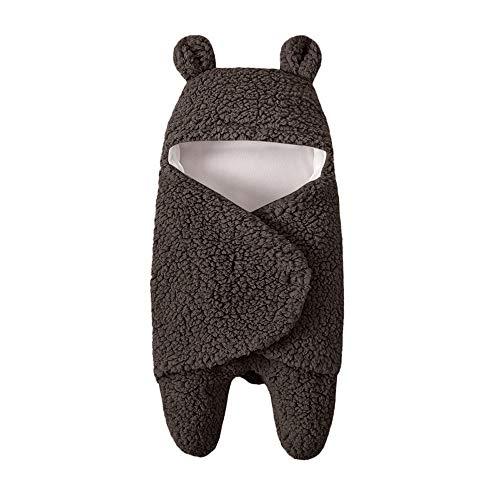 Neugeborenes Baby Wickeln Swaddle Schlafsäcke Wrap Decke Wickel Einschlagdecke (Braun)