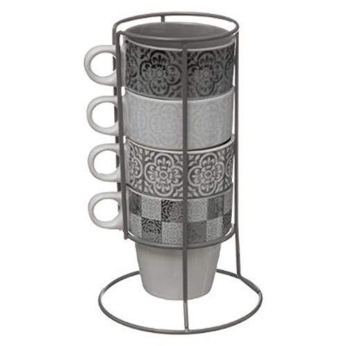 Lot de 4 Mugs Sur Rack\