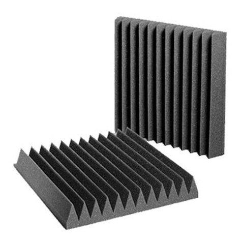 "Aurica Wedge Shaped Acoustic Foam 1' x 1' x 2"""