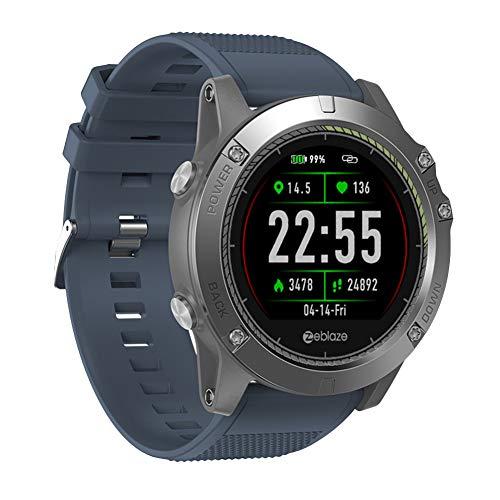 AchidistviQ Zeblaze VIBE3 HR Wasserdichte Pulsuhr Sport Smart Watch für Android iOS blau
