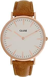 Cluse Montre Homme Analogique Quartz avec Bracelet en Cuir – CL18011