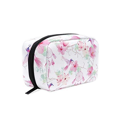 Mnsruu bolsas de maquillaje, exóticas atrapasueños, bolsas de viaje para cosméticos, bolsa de aseo para mujeres y niñas
