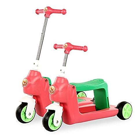 Kid mini scooter Twist voiture-large Deck 3 roues mini scooter Kick avec siège pour bébés , pink