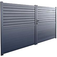 Portail aluminium battant for Portail alu soldes