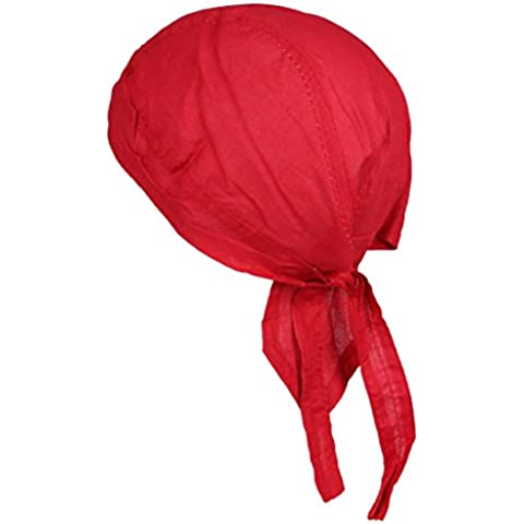 Cappello Bandana 100% de Cotone in giallo Arancio Verde lima Pink e rosso