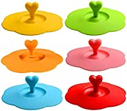 Rfvtgb Silicone Glass Cup Covers,6Pcs Silicone Cup Lids Reusable Anti-Dust Cup Covers Cute Coffee Tea Mug Cove