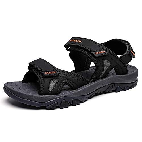 Sandali Escursionismo Uomo Estivi Sport Scarpe da Spiaggia Mare Piscina Outdoor Pelle Sandalo Sneakers da Trekking Nero Bleu Vert 39-46 Nero 41