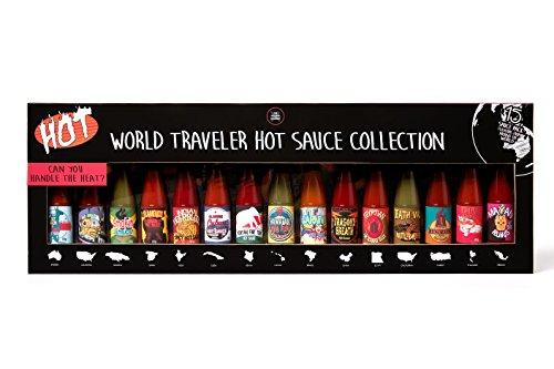 Modern Gourmet Foods, 15 bottigliette di salsa chili piccante, di diversi tipi da usare su pizza, ali di pollo, insalata e tanto altro