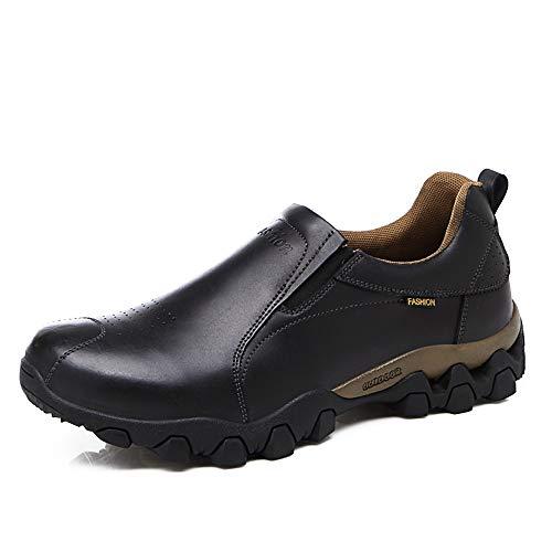 HILOTU Scarpe da Uomo di Moda Oxford Scarpe Casual Comode Basse Scarpe da Barca Slip On Mocassini Sneakers (Color : Nero, Dimensione : 41 EU)