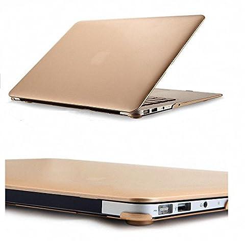 Metallische Champagner Gold Durch gummierte Hard Shell, Elegantes und leichtes 2-Part Hard Case Cover Schutz Hülle, Ultra Slim matt gold farbe für MacBook Air 13