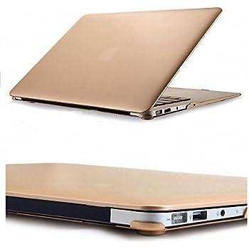 """BD Coque rigide caoutchoutée élégante et légère en 2 parties pour MacBook Air 13 """" Champagne doré mat"""