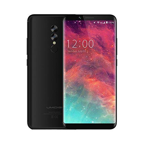 UMIDIGI S2 Smartphone Android 6.0 , Dual Sim Handy 6 Zoll mit 5100mAh Akku 4GB RAM + 64GB ROM Dual-Hauptkamera Schwarz