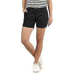 Desires Kathy Pantalón Tejano Vaquero Corto Shorts para Mujer Elástico, tamaño:38, Color:Black (9000)