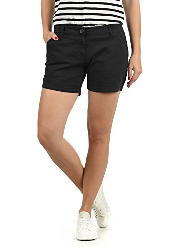 DESIRES Kathy Damen Chino Shorts Bermuda Kurze Hose Aus Stretch-Material Skinny Fit, Größe:40, Farbe:Black (9000) Fit Twill Cargo
