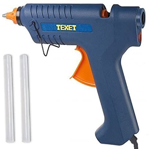 TEXET LARGE HOT MELT ELECTRIC GLUE GUN HOBBY CRAFT ADHESIVE DISPENSER TOOL INCLUDES 11.2MM STICKS