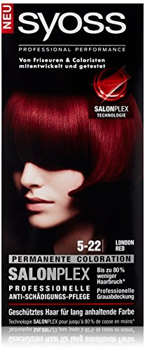 Syoss Haarfarbe, 5-22 London Red, 3er Pack (3 x 115 ml)