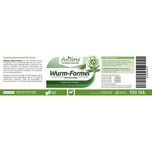 AniForte Wurm-Formel 100 Kapseln- Naturprodukt für Hunde - 4