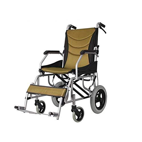 Sedia a rotelle Feifei sospensioni guidate Pieghevole Leggera con Freno a Mano, Cuscino in Mesh Traspirante, Ruote con Pneumat