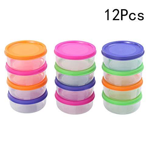 Healifty 12 Stück Baby Essen Aufbewahrungsbehälter Mini Gefrierschrank Töpfe Mikrowelle sicher