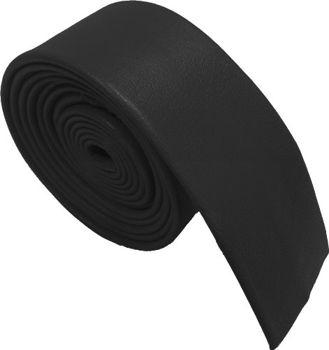 100% Cuero Corbatas (Negro)