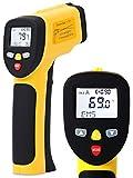 EnnoLogic Infrarot-Thermometer eT650D mit Doppel-Laser - Kontaktfreie Infrarot Messpistole - Berührungsloses IR Oberflächenthermometer - Messbereich -50°C bis +650°C