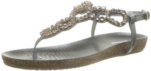 Geox D Vinca B, Sandali alla Moda Donna Grigio (Anthracite)