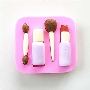 Wocuz W0632Rouge à lèvres crayon à sourcils Maquillage formes Moule en silicone Candy Moules Décoration de fondant Moule de mariage