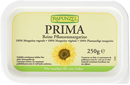 Rapunzel Pflanzenmargarine Prima, 4er Pack (4 x 250 g) - Bio