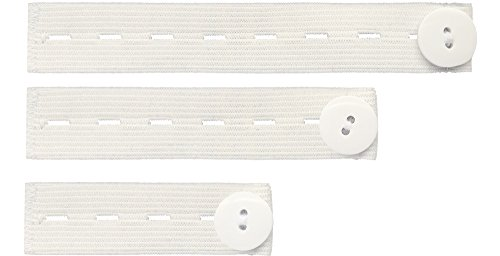 Be Mammy Damen Hosenerweiterung Gummi 3er Pack BE20-126 (Weiß/Weiß)